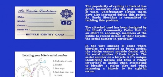 Bicycle ID card