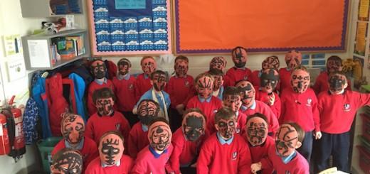 2nd Class make Maori Masks