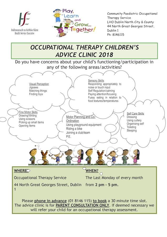 OT advice clinic flyer 2018